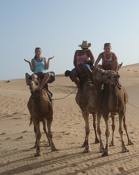 Riding camels photo
