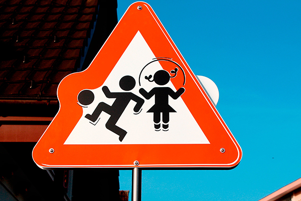 Caution sign - children playing